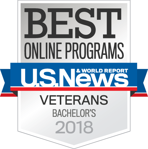 U.S. News Best Online Programs badge.