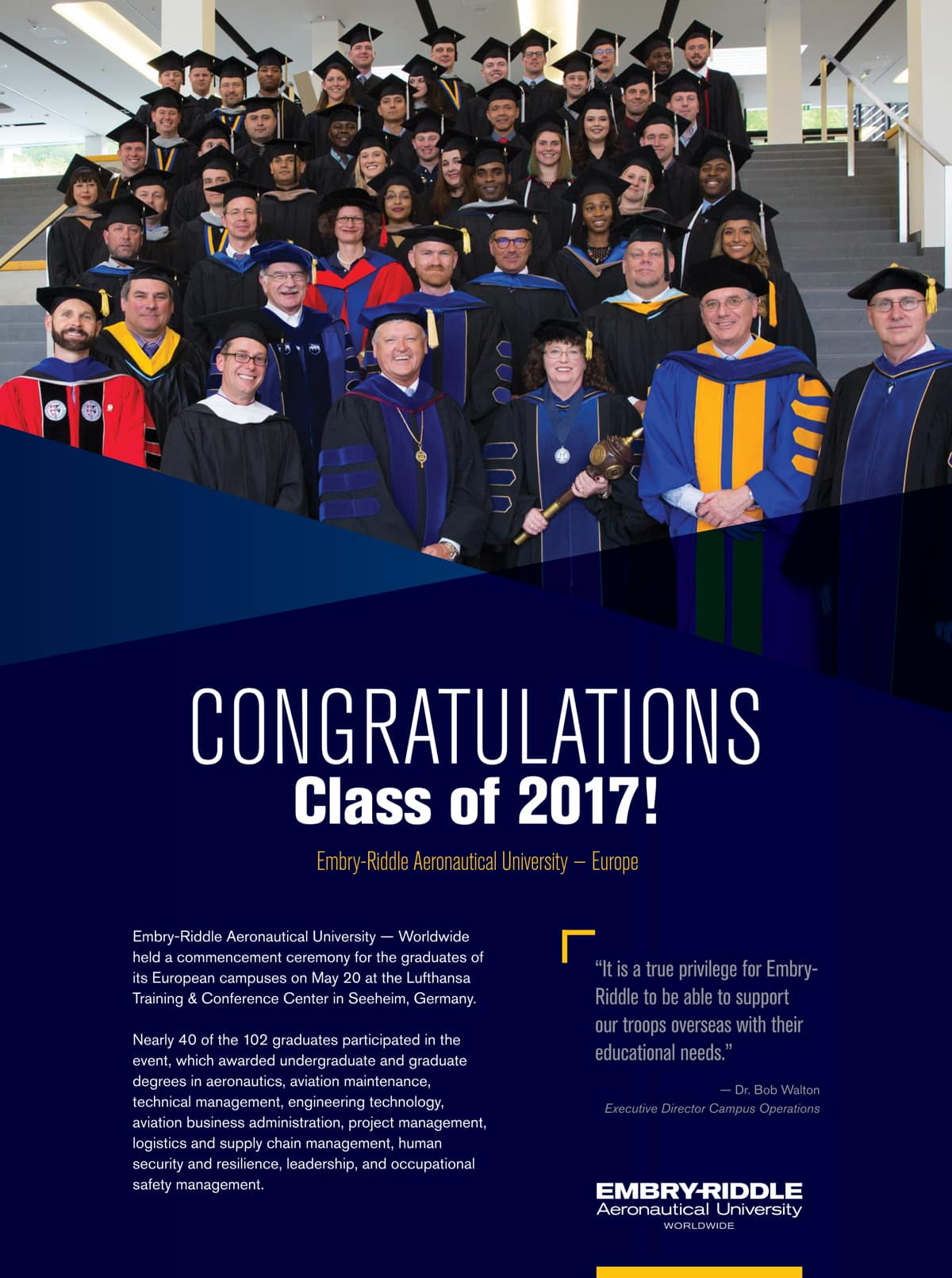 Embry-Riddle Worldwide Europe Commencement 2017