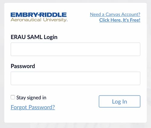 Use http://erau.instructure.com/login/canvas for continued access (enter selected username in 'ERAU SAML Login')