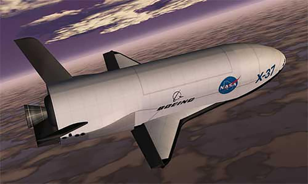 This is a rendering of the X-37B Orbital Test Vehicle